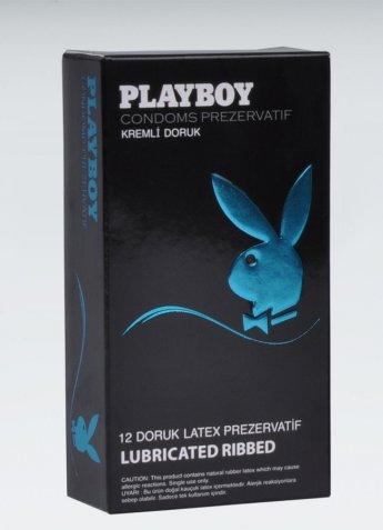 Playboy Ribbed Doruk Uyarıcı Yüzeyli Kremli 12 li