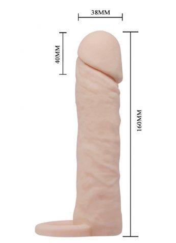 4 Cm Dolgulu Ten Dokusunda Penis Kılıfı