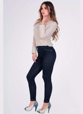 Kot Görünüm Kadın Tayt Pantolon
