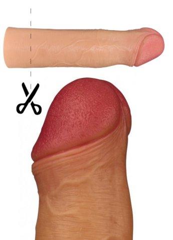 Gerçekçi Doku 5 Cm Dolgusu Penis Kılıfı