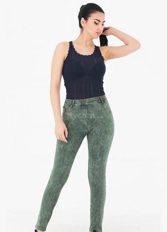 Yeşil Pantolon Görünümlü Kadın Tayt