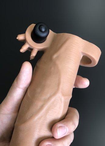 Tender Realistik Titreşimli Uzatmalı Penis Kılıfı
