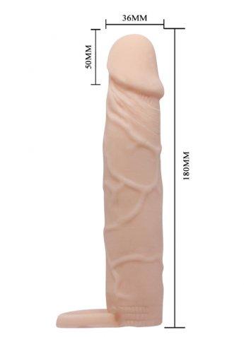 5 Cm Dolgulu Ten Dokusunda Penis Kılıfı