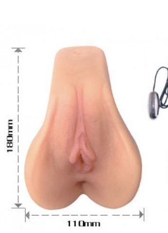 Pussy Ass İki İşlevli Titreşimli Ten hassasiyetli Vajina