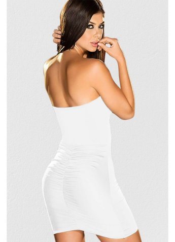 Beyaz Seksi Fantazi Elbise