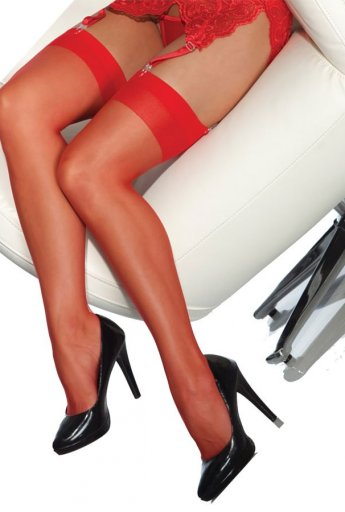 Standart Düz Jartiyer Çorabı Kırmızı