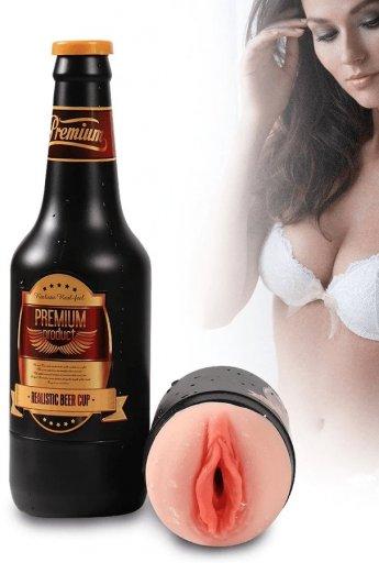 Bira Şişesi Cup Vajina Mastürbatör