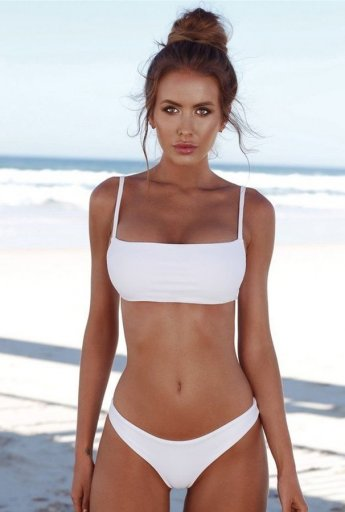 Angelsin Beyaz Şık Bikini Takım