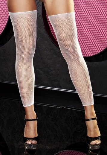 Beyaz File Kısa Çorap