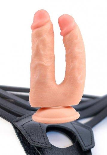 Belden Bağlamalı Çift Penis Dildo