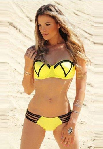 Angelsin Sarı Şık Tasarımlı Bikini