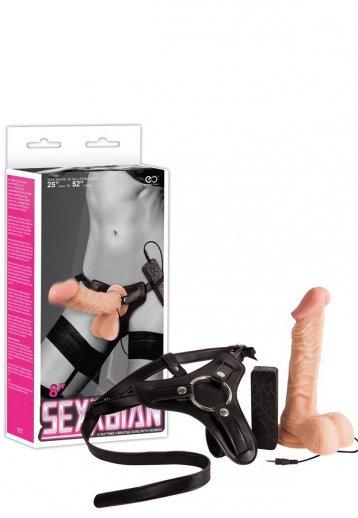 20 Cm Belden Bağlamalı Titreşimli Penis