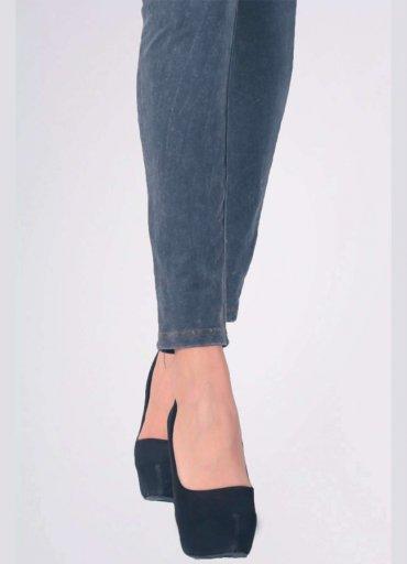 Fermuarlı Kadın Pantolon Tayt
