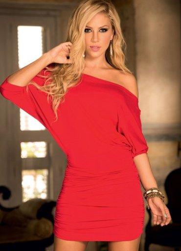 Şık Kırmızı Mini Elbise - 100 TL