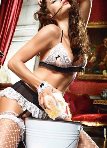 Siyah Beyaz Sexy Fransız Hizmetçi Kostümü - 70 TL