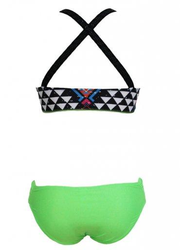 Renkli Desenli Özel Tasarım Tankini Bikini - 110 TL