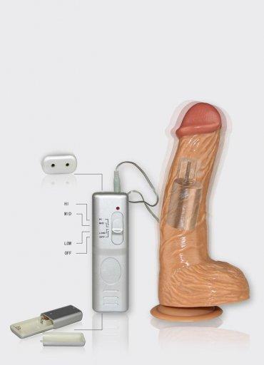 Vantuzlu 22 Cm Titreşimli Realistik Vibratör