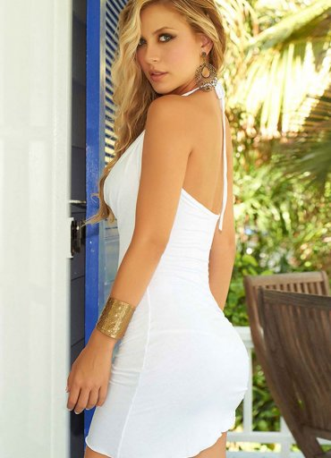 Sexy dekolteli mini elbise