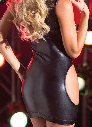 Deri Sexy Mini Elbise