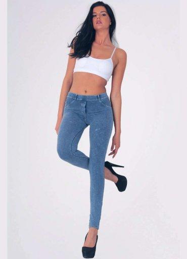 Mavi Pantolon Görünümlü Kadın Tayt - 0545 356 96 07