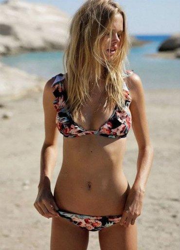 Angelsin Desenli Bikini Takım - 120.7872 TL
