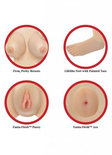 Realistik Vajina ve Anüs Oral Sex Şişme Manken - 1300 TL