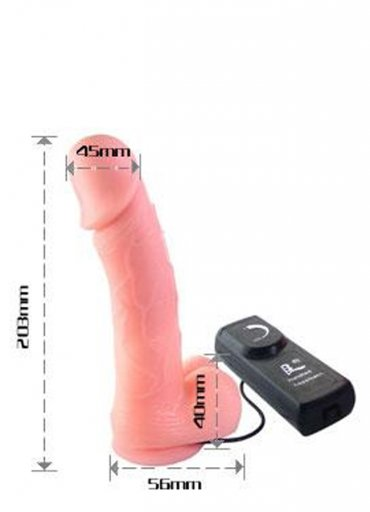 Ten Renginde Titreşimli Yumuşak Dokuya Sahip Realistik Penis