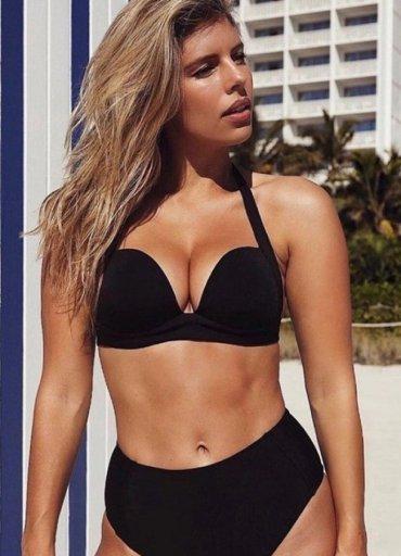 Yüksek Bel Siyah Şık Bikini Takım - 0545 356 96 07