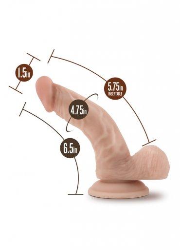 Nokta Shop 18 CM Gerçekçi Eğik Dildo Penis - 190 TL