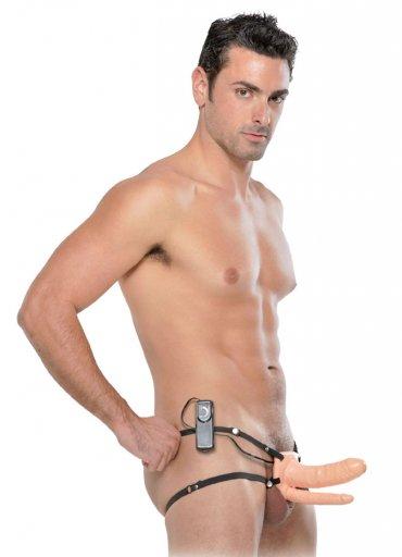 Unisex İçi Boş Titreşimli Çift Taraflı Realistik Penis