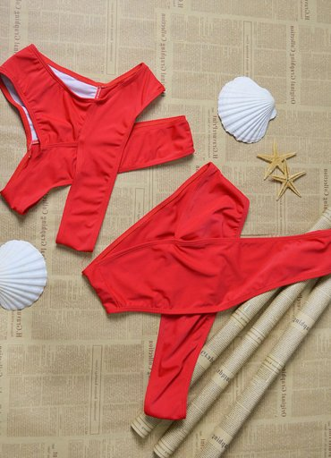 Kırmızı Özel Tasarım Bikini Alt - 0545 356 96 07