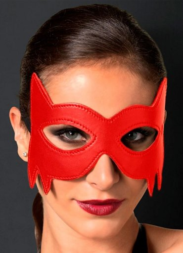 Batman Kırmızı Deri Göz Maskesi