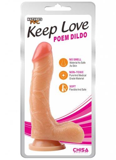 Love 20 cm Gerçekçi Yumuşak Dildo