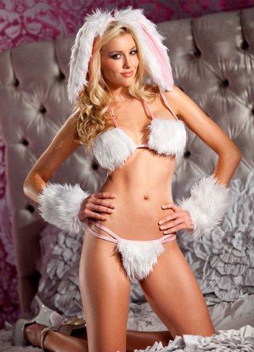Tüylü Tavşan Kız Kostümü - 95 TL