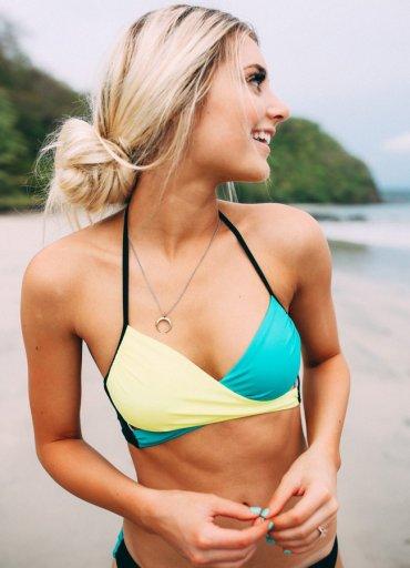 Renkli Şık Tasarım Bikini Üst - 65 TL