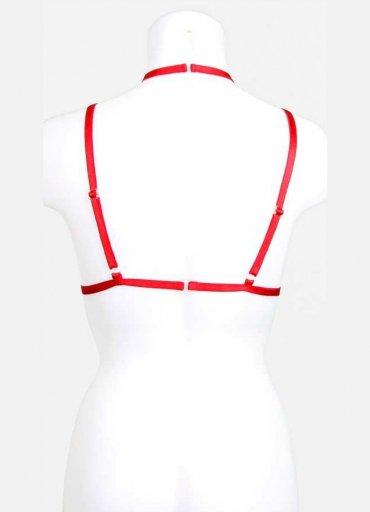 Kırmızı Harness Bralet Aksesuarı - 0545 356 96 07