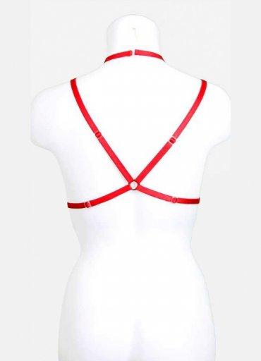 Kırmızı Harnes Bralet Aksesuarı - 0545 356 96 07