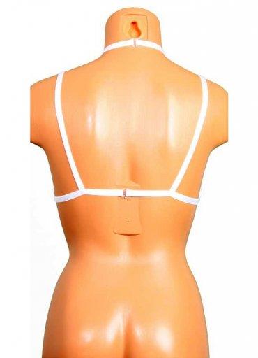 Detay Şeritli Beyaz Bralet Aksesuarı - 0545 356 96 07