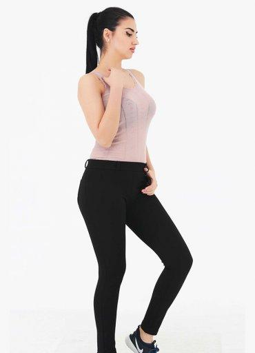 Siyah Cep Detaylı Pantolon Tayt - 115 TL