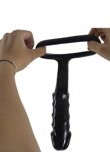 Halkalı Siyah Protez Penis - 400 TL
