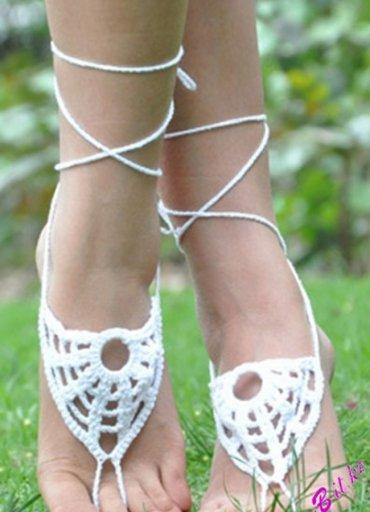 Şık Beyaz Ayak takısı Halhal Ayak aksesuarı - 40 TL