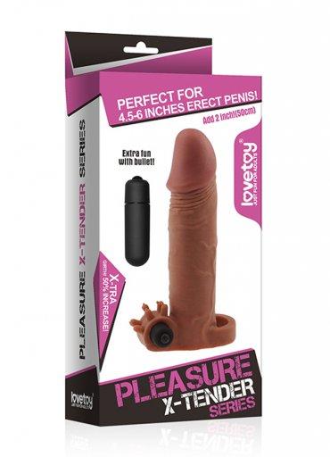 X Tender Realistik Titreşimli Penis Kılıfı - 0545 356 96 07