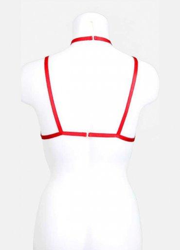 Detay Şeritli Kırmızı Bralet Aksesuarı - 0545 356 96 07
