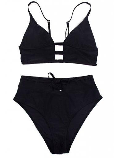Siyah Yüksel Bel Şık Bikini Takım - 0545 356 96 07