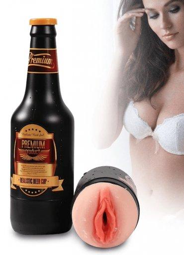 Bira Şişesi Titreşimli Vajina Mastürbatör