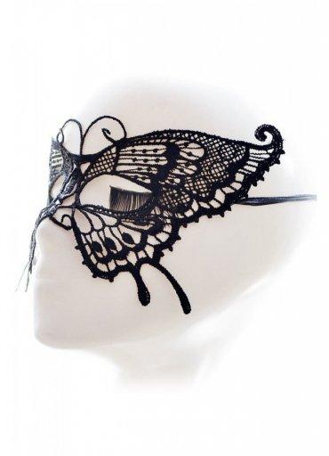 Kelebek Desenli Dantel Göz Maskesi