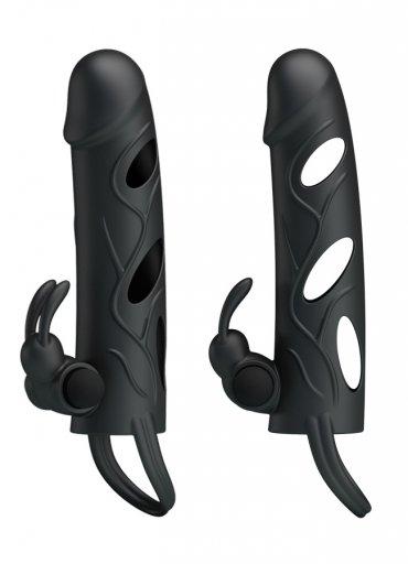 Siyah Penis Kılıfı Klitoris Uyarıcılı - 0545 356 96 07
