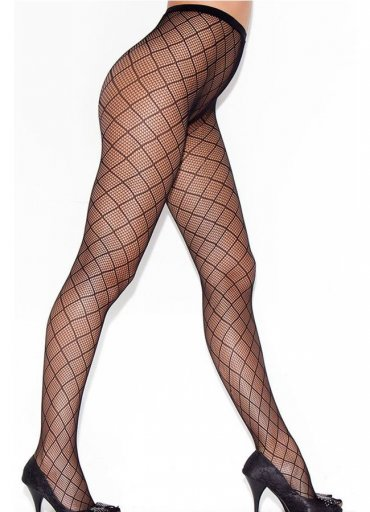 Kare Desenli Külotlu Çorap