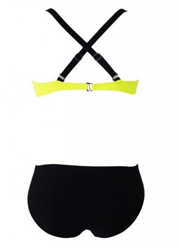 Sarı Siyah Şık Bikini Tek Üst - 85 TL