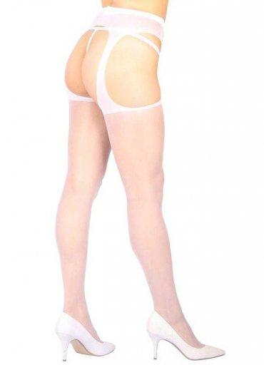 Özel Ve Yan Bölgeleri Açık Transparan Beyaz Fantazi Külotlu Çorap - 0545 356 96 07